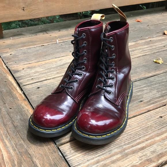 Vegan Oxblood Dr Marten 46 8eye Boots
